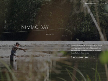 A still from a video on the Nimmo Bay website.
