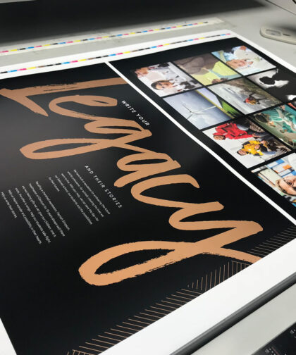 An image of print materials for a campaign.